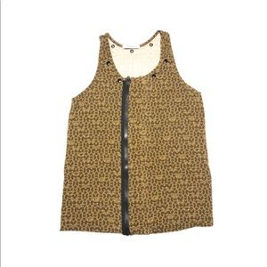 Givenchy Brown Zippered Tunic Tank Top med/lg